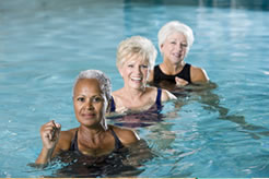 People doing Aqua Fit in pool