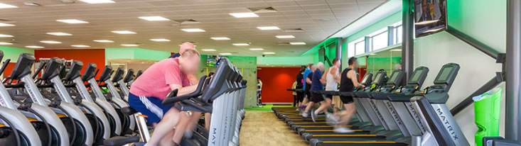 Customers using elliptical and cycling machines at East Riding Leisure Beverley